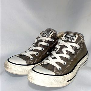 Converse All Star Chuck Taylor Low Olive Gray Sz 6